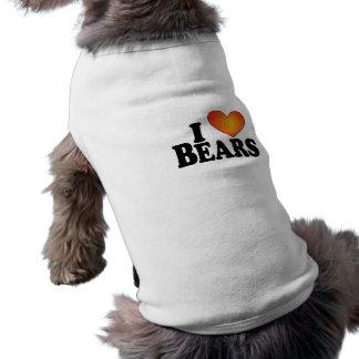I osos (del corazón) - camiseta del perro playera sin mangas para perro