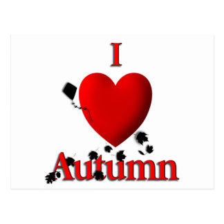 I otoño del corazón postal