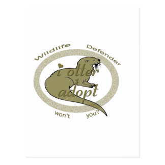 i otter adopt ~ wont you postcard