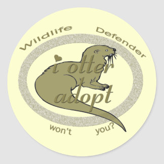 i otter adopt ~ wont you stickers