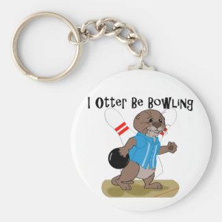 I Otter Be Bowling Key Chains