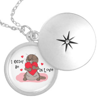 I Otter Be In Love Personalized Necklace