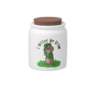 I Otter Be Irish Candy Jar