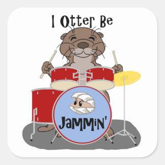 I Otter Be Jammin' Square Sticker