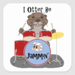 I Otter Be Jammin' Stickers