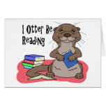 I Otter Be Reading Greeting Card