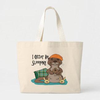 I Otter Be Sleeping Tote Bag