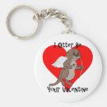 I Otter Be Your Valentine Basic Round Button Keychain