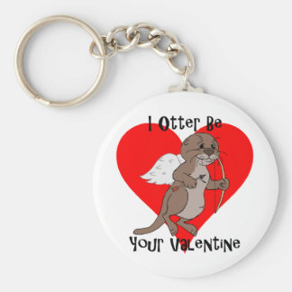 I Otter Be Your Valentine Key Chain