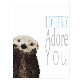 I otterly adore you postcard