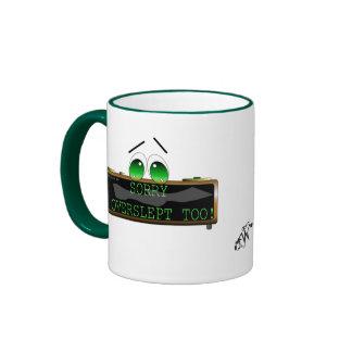 I overslept too! ringer coffee mug