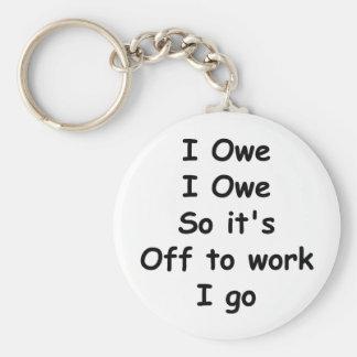 I Owe, I Owe Keychain