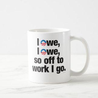 I Owe, I Owe, so Off to Work I go drinkware Classic White Coffee Mug