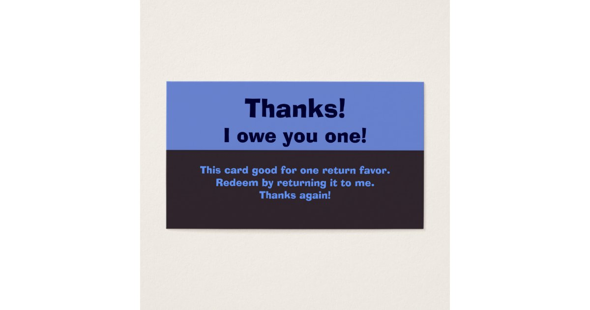 Funny Thank You Business Cards & Templates | Zazzle