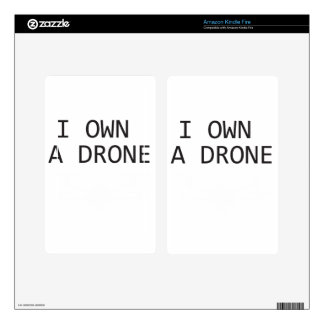 I own a Drone Kindle Fire Decal