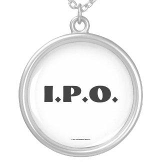 I.P.O. Celebration Round Pendant Necklace