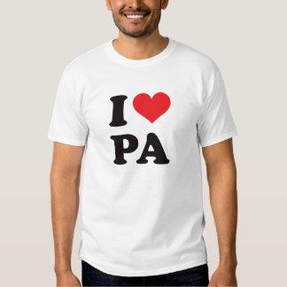 I PA del corazón - Pennsylvania Camisas