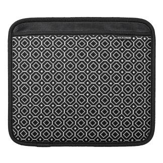 i Pad Black Retro Pattern Sleeve For iPads