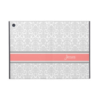 i Pad Coral Damask Custom Name iPad Mini Covers