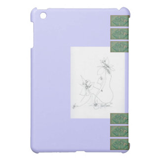 I-Pad Cover ~ Light Lavender and Green iPad Mini Cover