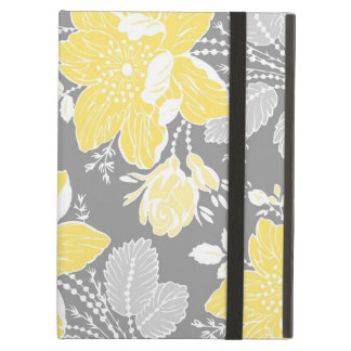 i Pad Lemon Gray Floral Pattern iPad Cover