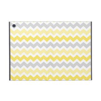 i Pad  Lemon Grey Chevrons Pattern iPad Mini Covers
