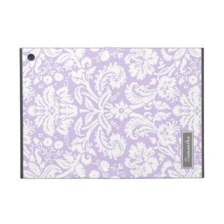 i Pad  Lilac Damask Custom Name Cases For iPad Mini