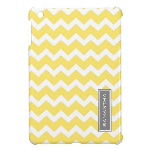 i Pad Mini Lemon Chevron Custom Name Case For The iPad Mini