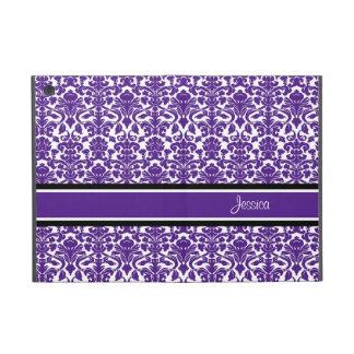 i Pad Mini Violet Damask Custom Name iPad Mini Cover