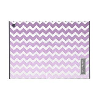 i Pad  Purple Ombre Chevron Custom Name iPad Mini Case