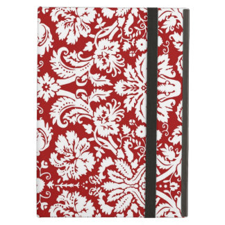i Pad Red Damask Pattern iPad Cover