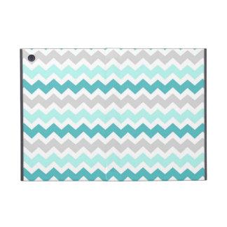 i Pad Teal Grey Chevrons Pattern Cases For iPad Mini