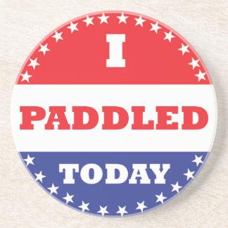 I Paddled Today Sandstone Coaster