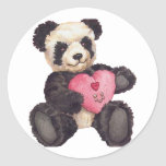 I panda del corazón U Etiqueta