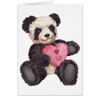 I panda del corazón U Tarjetas