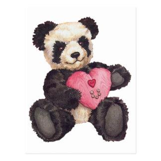 I panda del corazón U Tarjeta Postal
