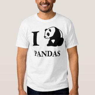 I pandas del corazón playera