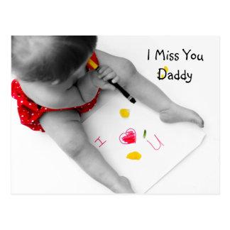 I papá de Srta. You Daddy te amo con el corazón Postales