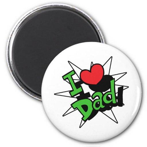 I papá del corazón iman de nevera