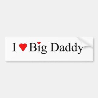I papá grande del corazón pegatina para auto