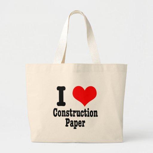 I papel de construcción del CORAZÓN (AMOR) Bolsa Tela Grande