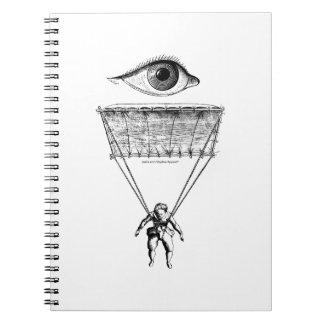 I Parachute Spiral Notebook