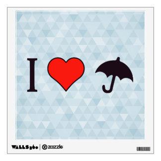 I paraguas del corazón vinilo decorativo