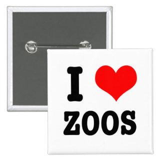 I parques zoológicos del CORAZÓN (AMOR) Pin Cuadrada 5 Cm