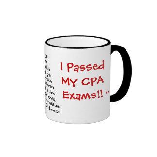 I Passed My CPA Exams! - triple sided Ringer Coffee Mug