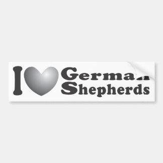 I pastores alemanes del corazón - pegatina para el pegatina para auto