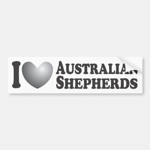 I pastores australianos del corazón - pegatina par pegatina para auto