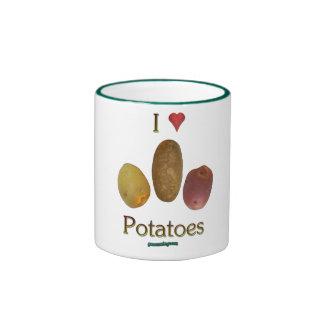 I patatas del corazón taza de dos colores