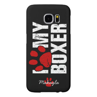 I paw my boxer - Personalized Samsung Galaxy S6 Case
