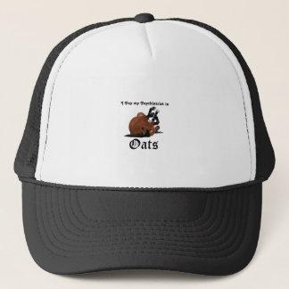 I pay my psychiatrist in Oats Brown Horse on Back Trucker Hat